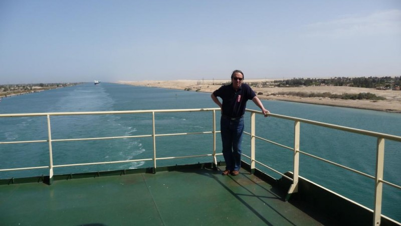 Pierre Semeteys sur le canal de suez