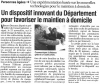 L'Union du Cantal du 6 décembre 2008 : Un dispositif innovant du département