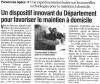 L'Union du Cantal du 6 décembre 2008 : Un dispositif innovant du département