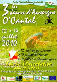 Les 3 jours d'Auvergne de course d'orientation O'Cantal