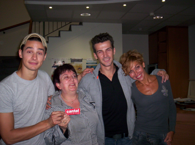 Willy, Indra, Franck (plus belle la vie) et Yvette au theatre 08/10/2011