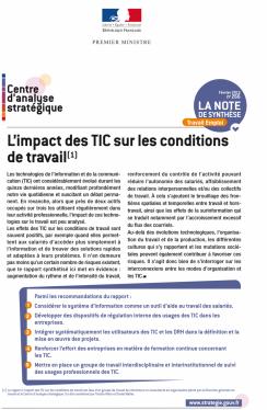 L'impact des TIC sur les conditions de travail