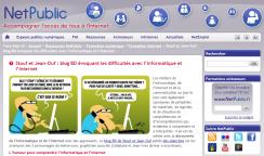 Stouf et Jean-Ouf : blog BD évoquant les difficultés avec l'informatique et l'Internet