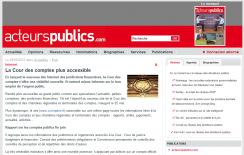 La Cour des comptes plus accessible