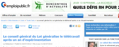 Le conseil g�n�ral du Lot g�n�ralise le t�l�travail apr�s un an d�exp�rimentation