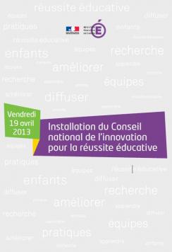 Le Conseil National de l'Innovation pour la Réussite Educative installé