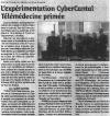 Le Réveil Cantalien - 28 novembre 2014 - Tour de France du numérique pour la santé : L'expérimentation CyberCantal Télémédecine primée