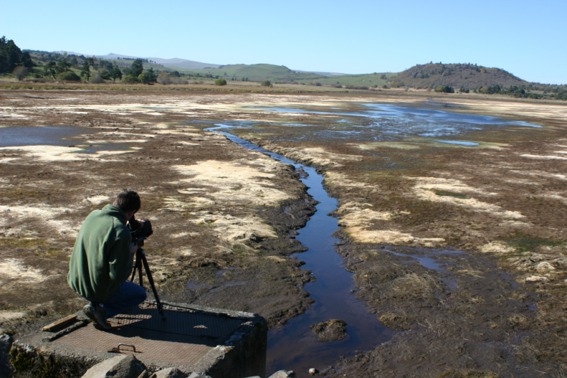 Lac du pêcher après la vidange Crédit : CD15